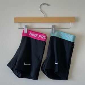Pair of Nike compression dri-fit shorts